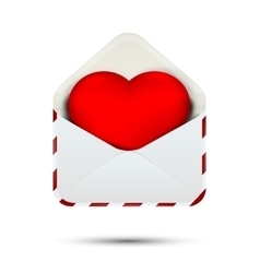 Love heart in the envelope vector