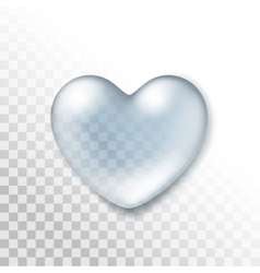 Realistic water heart drop isolated vector