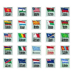 Set of national stamps 04 vector
