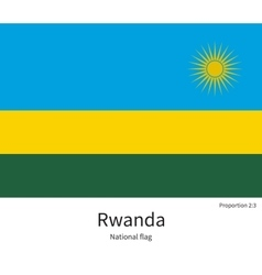 National flag of rwanda with correct proportions vector