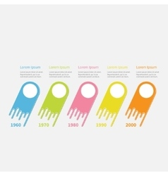 Infographic five step timeline colorful comet vector