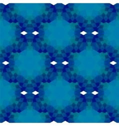 Blue seamless polygonal pattern vector