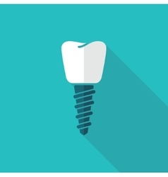 A dental implant vector image