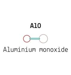 Alo aluminium monoxid molecule vector