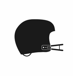 american football helmet icon simple monochrome vector image