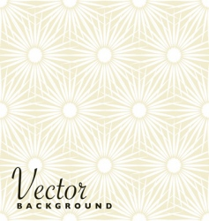 beige floral explosion vector image vector image