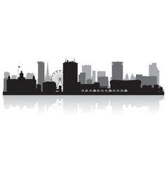 Birmingham city skyline silhouette vector image