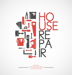 Building and house repair tools vector image