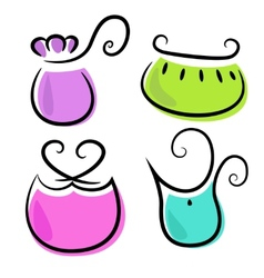 collection of woman bags vector image