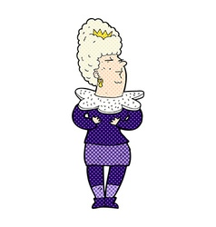 Comic cartoon aristocratic woman vector