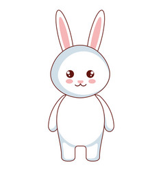 Cute and tender rabbit character vector