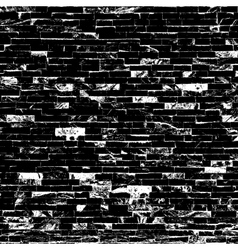 Decorative black brick texture vector