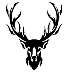 deer with horns image design tattoo emblem vector image vector image
