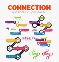 Diagram elements set of connection concept vector