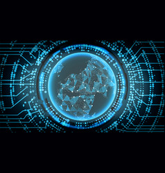 Future technology cyber concept background europe vector