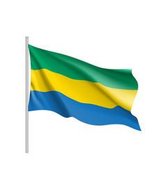 Gabon realistic flag vector