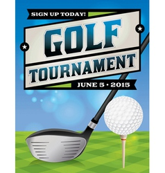 Golf tournament banner vector