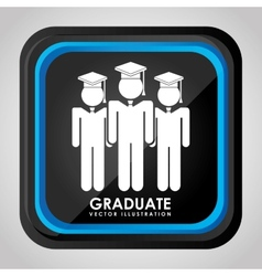 graduate icon vector image