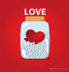 Hearts in the bottle vector image vector image