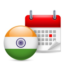 Icon of National Day in India vector image vector image