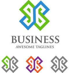 Letter eb logo style vector