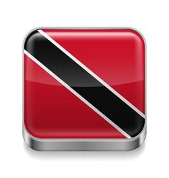 Metal icon of trinidad and tobago vector