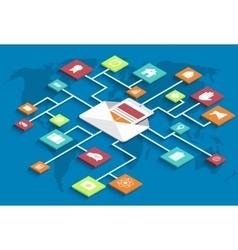 modern isometric email marketing background vector image