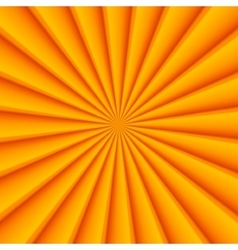 Orange abstract rays circle background vector image