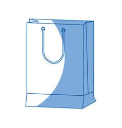 Paper gift bag shopping merchandise vector
