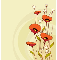 Retro background with flowers vector image vector image