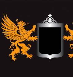 retro royal shield vector image vector image