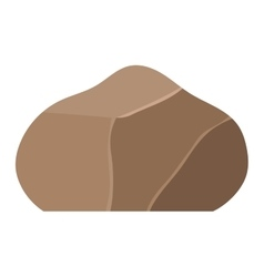 Rock stone icon vector
