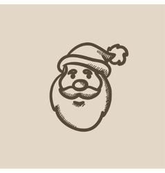 Santa Claus face sketch icon vector image vector image