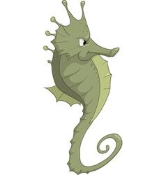 seahorse cartoon vector image vector image