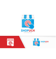 Store and click logo combination market vector