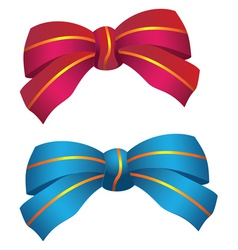 Two bows vector image