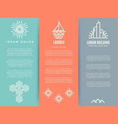 Vintage minimal geometric brochure flyers template vector