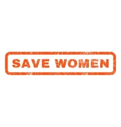 Save women rubber stamp vector
