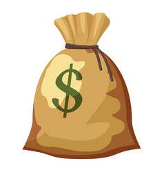 money bag with dollar sign icon cartoon style vector image
