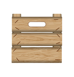 crate wooden wood planks vector image