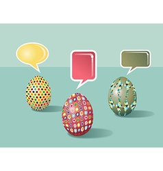 Talking Social media Easter eggs vector image