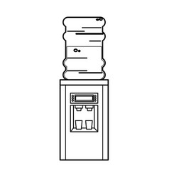 Bottle cooler water electric dispenser outline vector