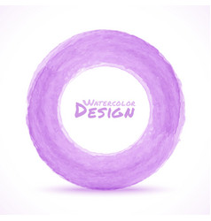 Hand drawn watercolor light purple circle design e vector