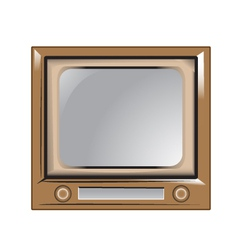 Retro vintage old television vector