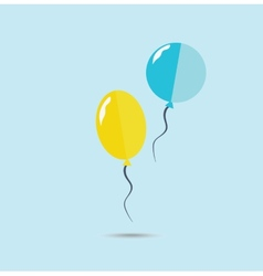 Yellow and blue ballons vector