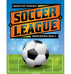 Soccer league flyer vector
