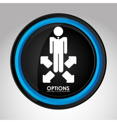Options icon vector
