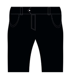 Black jeans vector