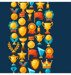 Sport or business seamless pattern with award vector