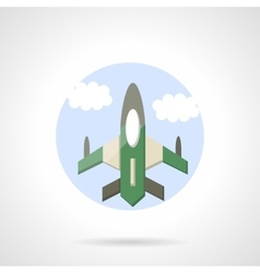 Aircraft flat round icon vector image